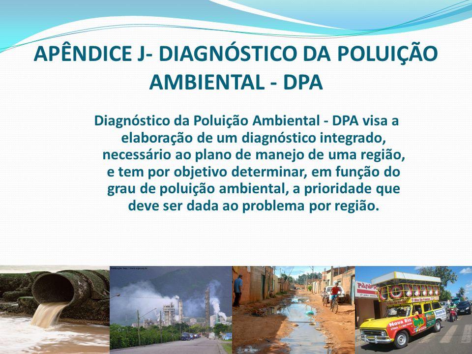1 faperj.br rc.unesp.br APÊNDICE J- DIAGNÓSTICO DA POLUIÇÃO AMBIENTAL - DPA Diagnóstico da Poluição Ambiental - DPA visa a elaboração de um diagnóstic