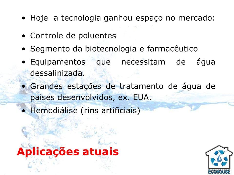 Osmose Reversa A osmose reversa, além da destilação, é o único processo conhecido que pode remover, efetivamente, os seguintes tipos de impurezas da água: 1- Sais dissolvidos na água 2- Material coloidal 3- Total de sólidos Dissolvidos 4- Metais Tóxicos 5- Elementos Radioativos 6- Microrganismos 7- Pesticidas e Herbicidas 8- Moléculas de compostos orgânicos pesados (peso molecular maior que 300 dalton)