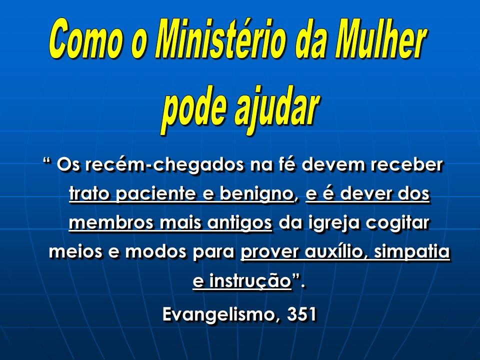 O MM deve auxiliar a igreja a organizar estas classes, observando que: Devem ser semanais.