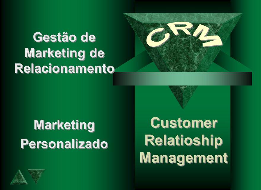 Customer Relatioship Management Customer Relatioship Management Gestão de Marketing de Relacionamento Marketing Personalizado Gestão de Marketing de R