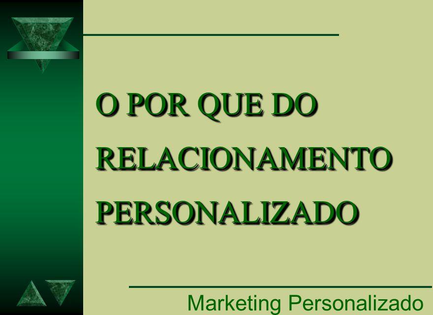 Marketing Personalizado O POR QUE DO RELACIONAMENTO PERSONALIZADO O POR QUE DO RELACIONAMENTO PERSONALIZADO