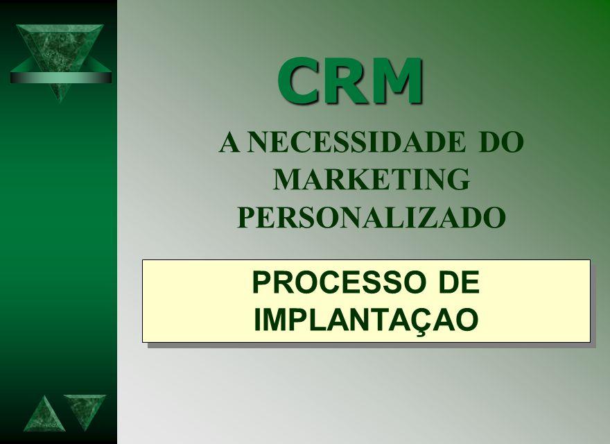 CRM A NECESSIDADE DO MARKETING PERSONALIZADO PROCESSO DE IMPLANTAÇAO
