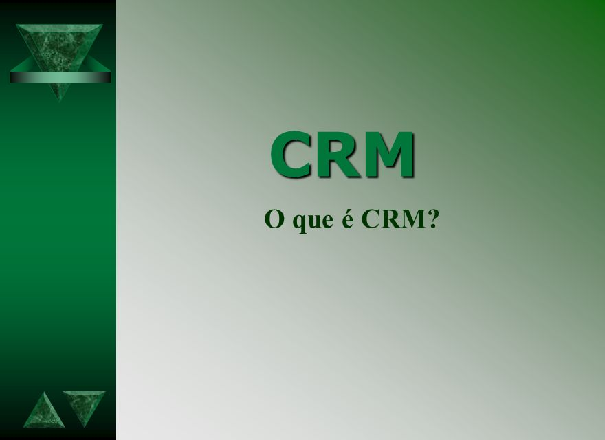 ARQUITETURA DAS SOLUÇÕES Marketing Personalizado CRM CRM Estratégico É a parte do CRM que contem toda inteligência do processo.