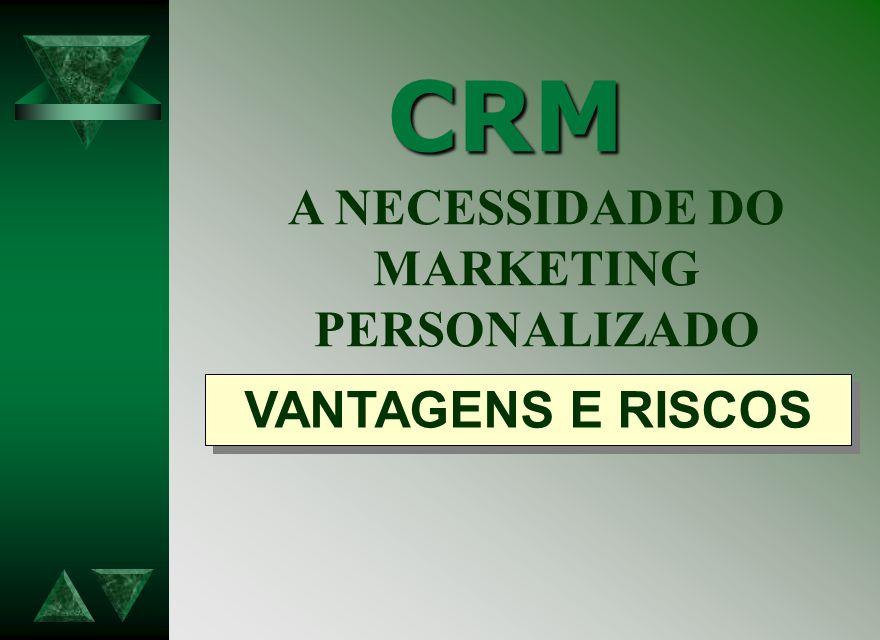 CRM A NECESSIDADE DO MARKETING PERSONALIZADO VANTAGENS E RISCOS