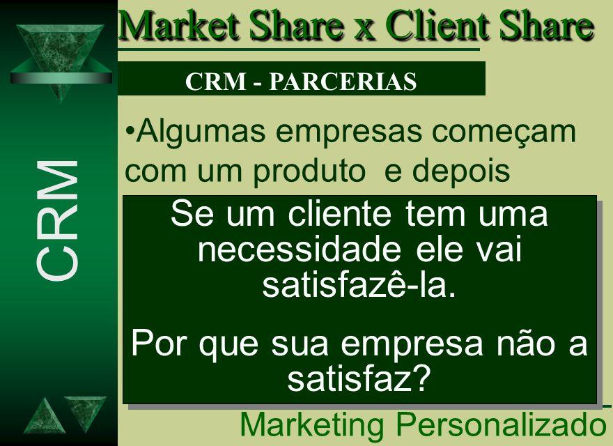 Algumas empresas começam com um produto e depois passam a vender outros e outros produtos afim de participar mais da vida de seus clientes. Se um clie