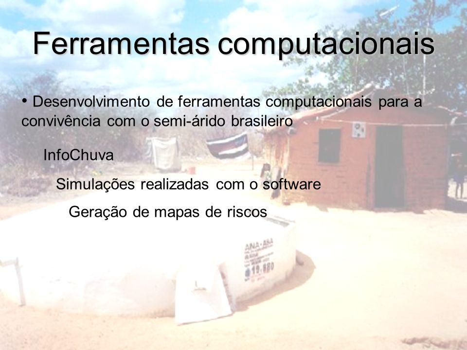 Ferramentas computacionais Desenvolvimento de ferramentas computacionais para a convivência com o semi-árido brasileiro InfoChuva Simulações realizada