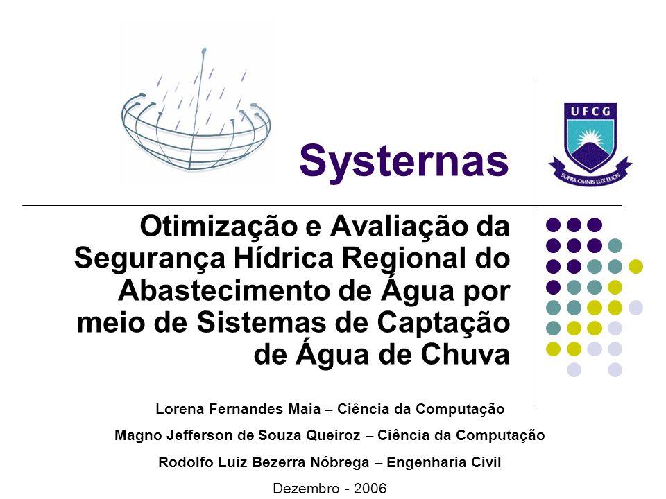 Systernas Otimização e Avaliação da Segurança Hídrica Regional do Abastecimento de Água por meio de Sistemas de Captação de Água de Chuva Lorena Ferna
