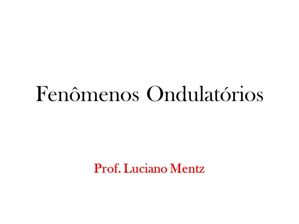 Fenômenos Ondulatórios Prof. Luciano Mentz