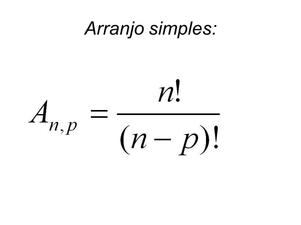 Arranjo simples: