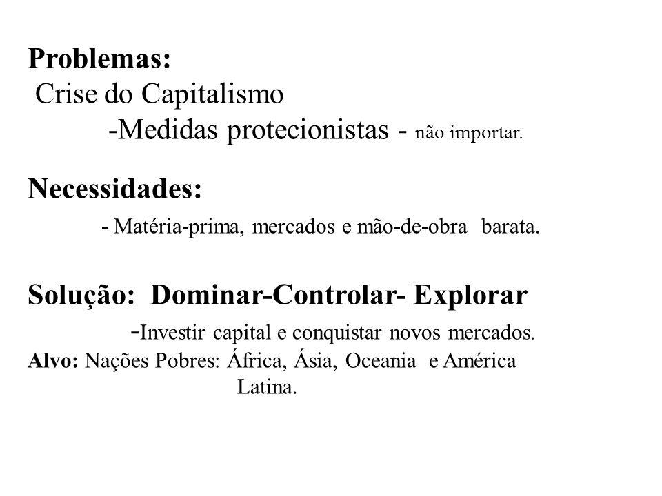 Ações Imperialistas dos EUA CUBA (1898) auxílio na guerra de independência contra a Espanha;nexação das Filipinas e Porto Rico Emenda Platt (constituição cubana) – direito de intervenção na ilha; Estímulo ao movimento separatista em relação à Colômbia.