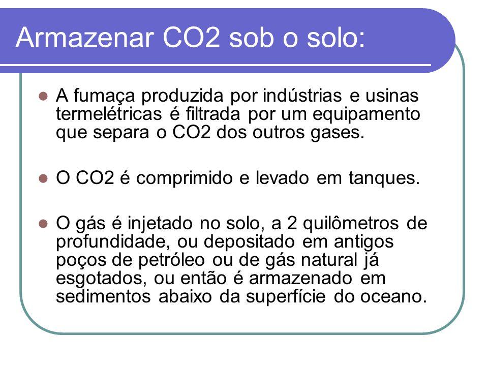 Armazenar CO2 sob o solo: A fumaça produzida por indústrias e usinas termelétricas é filtrada por um equipamento que separa o CO2 dos outros gases. O