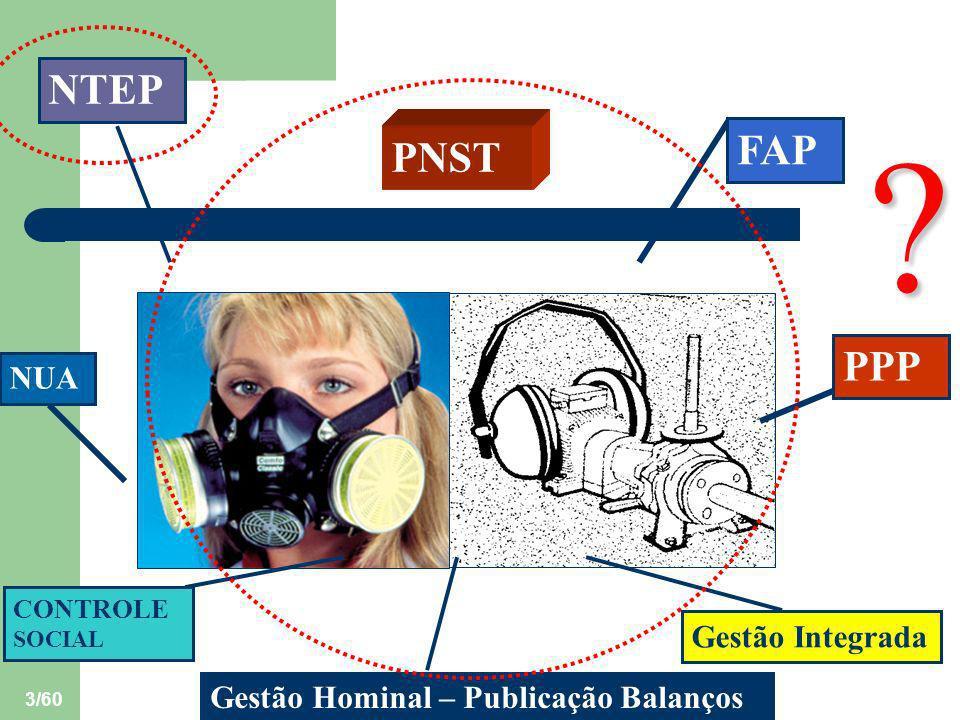 4/60 EXEMPLO: NTEP TUBERCULOSE DOENÇAS INFECCIOSAS E PARASITÁRIAS RELACIONADAS COM O TRABALHO (Grupo I da CID-10)
