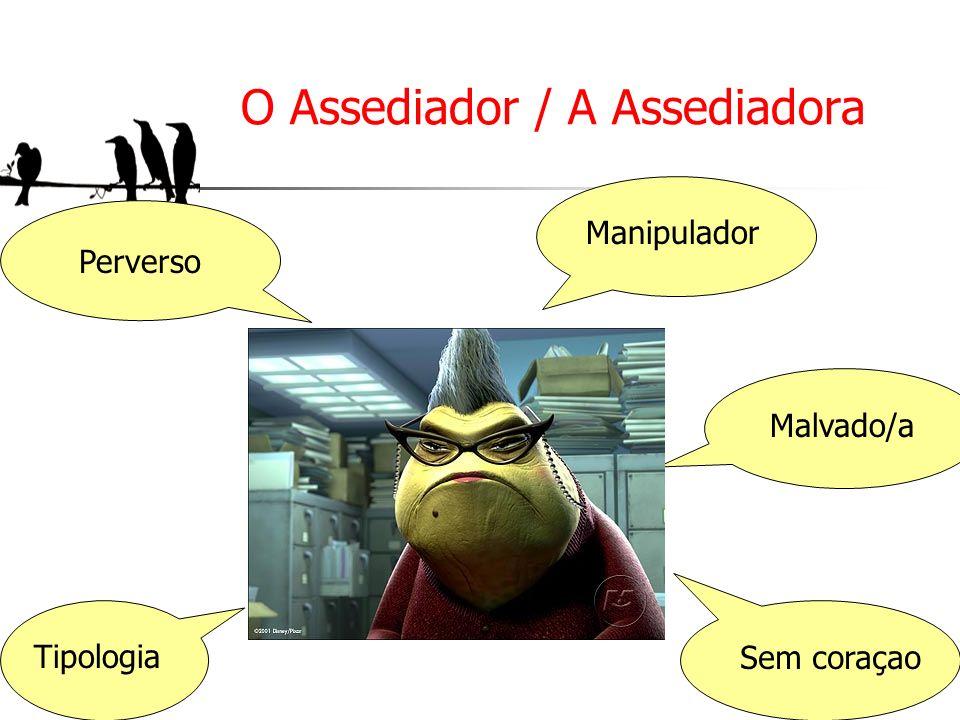 O Assediador / A Assediadora Perverso Manipulador Tipologia Malvado/a Sem coraçao