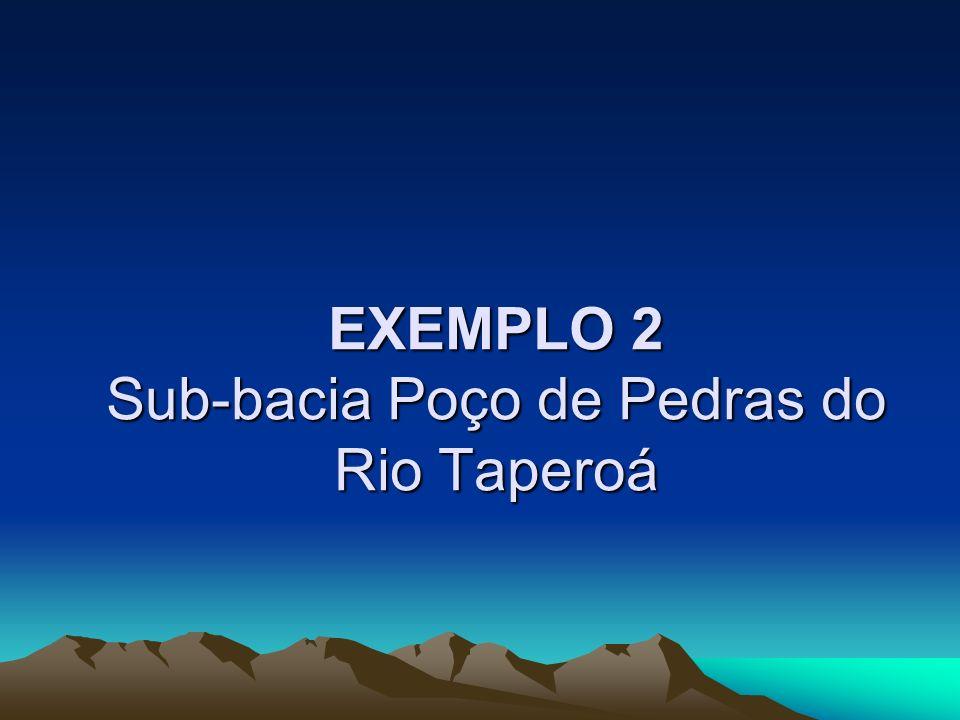 EXEMPLO 2 Sub-bacia Poço de Pedras do Rio Taperoá