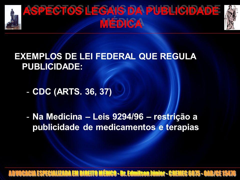 11 ASPECTOS LEGAIS DA PUBLICIDADE MÉDICA -Regulamentação da publicidade médica pelos Conselhos: -FORA DA COMPETÊNCIA/ATRIBUIÇÃO LEGAL -Não edita Lei Federal -Inconstitucionalidade de regulação/fiscalização/punição -RDC ANVISA 96/2008 – Publicidade de medicamentos -Min.