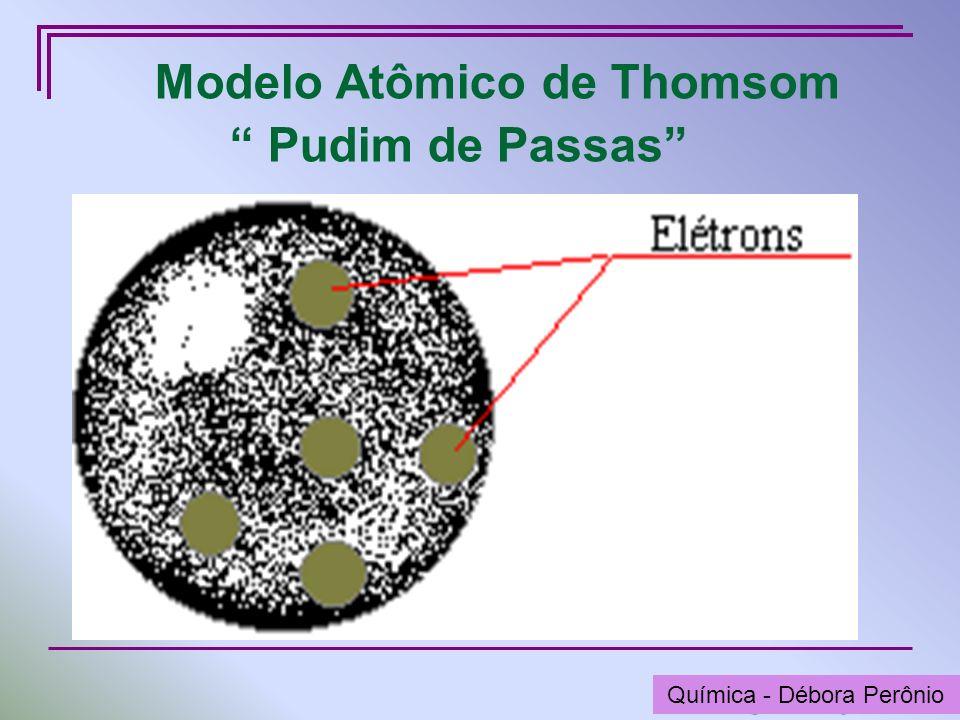 Química - Graça Porto Modelo Atômico de Thomsom Pudim de Passas Química - Débora Perônio