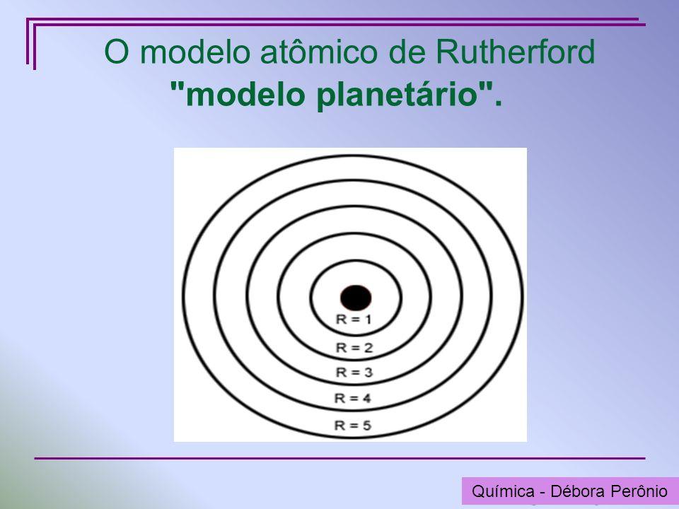 Química - Graça Porto O modelo atômico de Rutherford