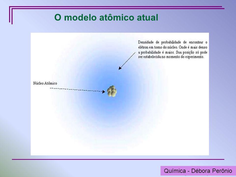 Química - Graça Porto O modelo atômico atual Química - Débora Perônio