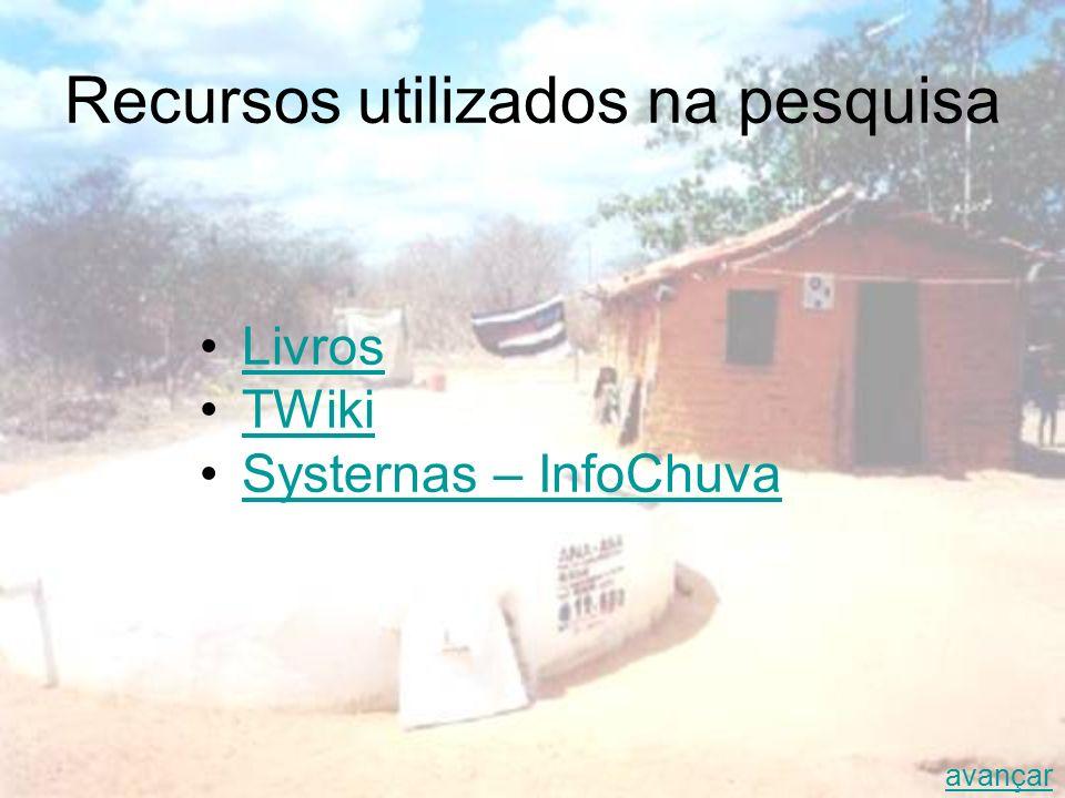 Recursos utilizados na pesquisa Livros TWiki Systernas – InfoChuva avançar