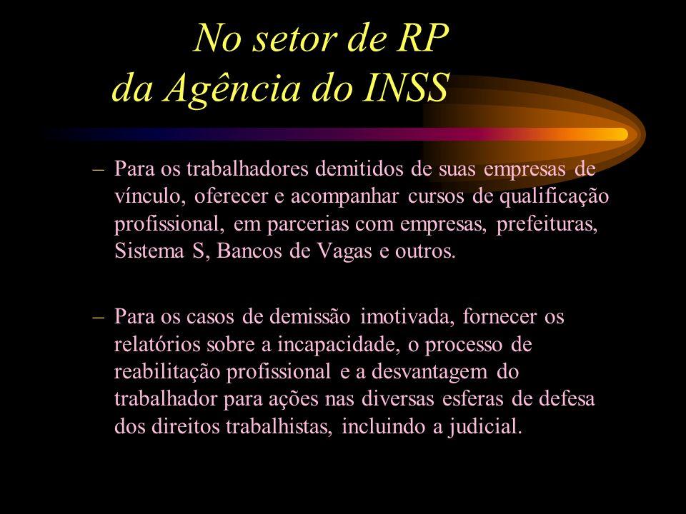 No setor de RP da Agência do INSS –Nos casos de recusa ou não cumprimento das empresas de vínculo, encaminhar denúncia aos órgãos fiscalizadores do cu