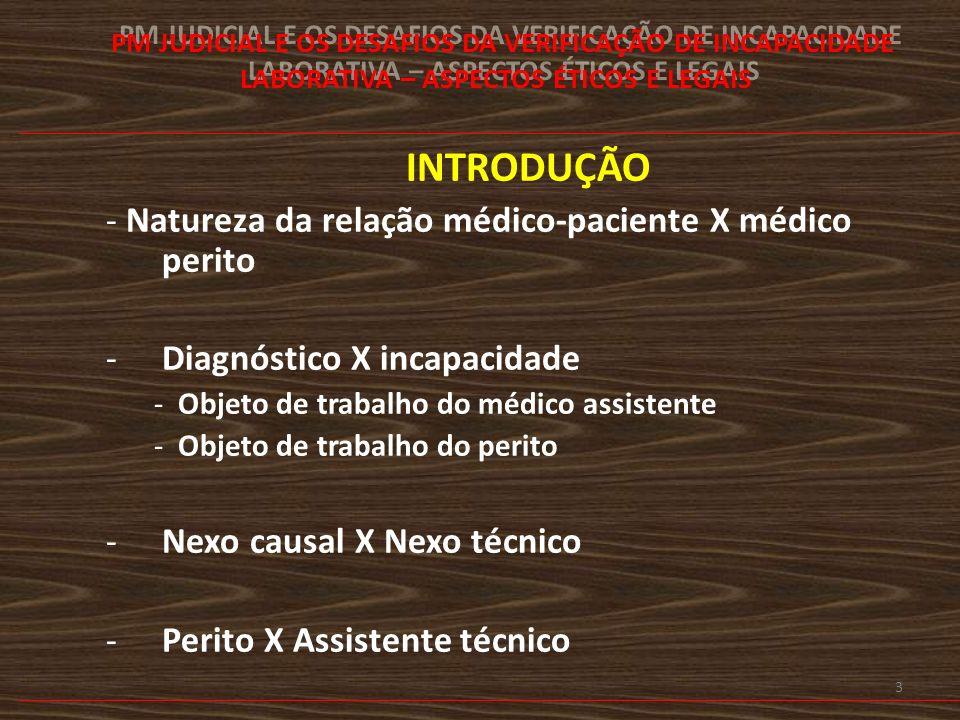 4 MÉDICO ASSISTENCIALISTA MÉDICO DO TRABALHO – EMPREGADO OU AUTÔNOMO MÉDICO PERITO 1.