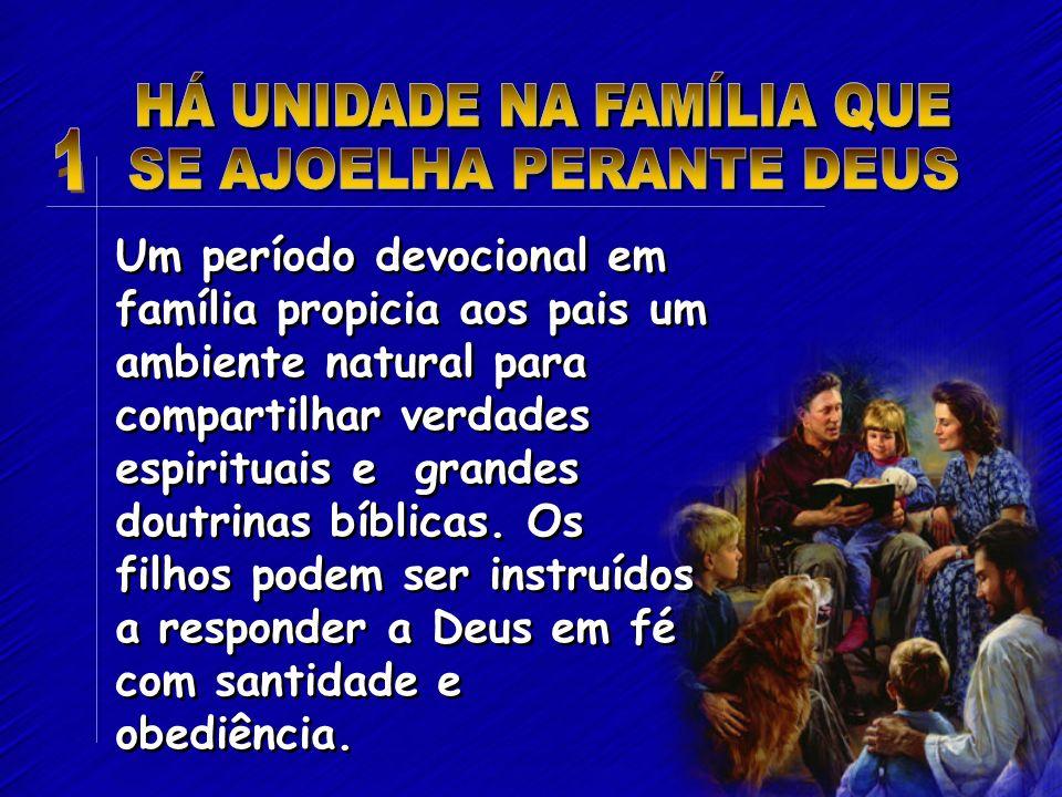 Um período devocional em família propicia aos pais um ambiente natural para compartilhar verdades espirituais e grandes doutrinas bíblicas. Os filhos