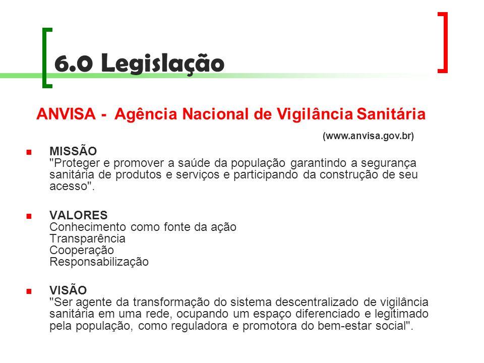 6.0 Legislação MISSÃO
