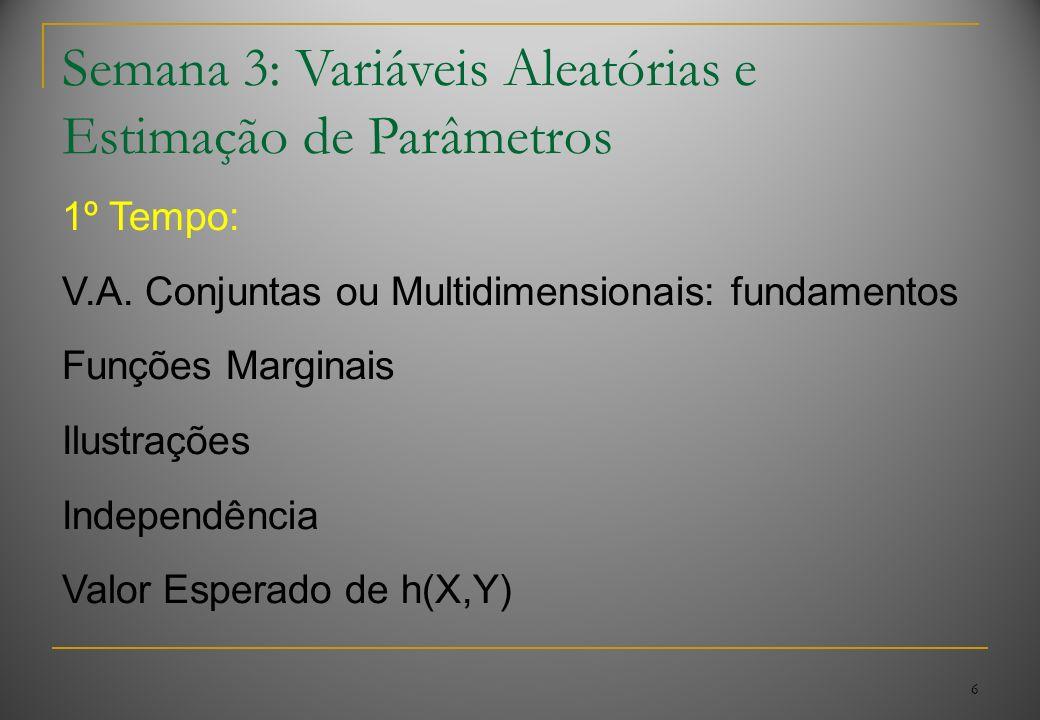 6 Semana 3: Variáveis Aleatórias e Estimação de Parâmetros 1º Tempo: V.A.