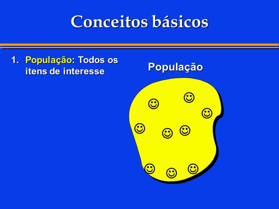 . Conceitos básicos 1.População: Todos os itens de interesse População