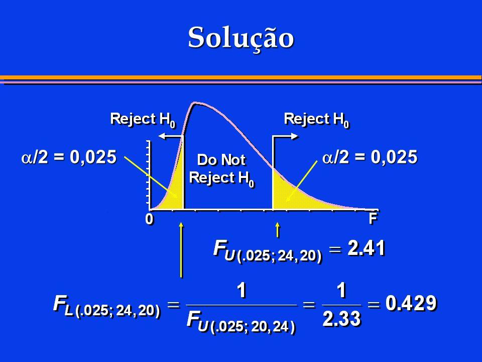 Solução /2 = 0,025 /2 = 0,025