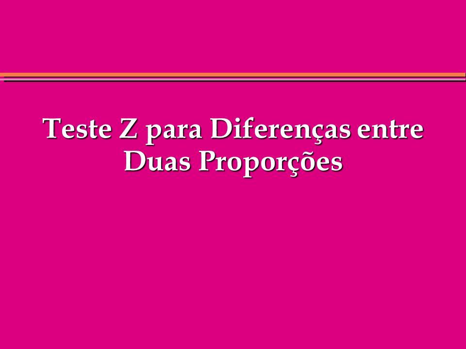 Teste Z para Diferenças entre Duas Proporções