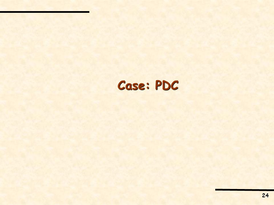 24 Case: PDC