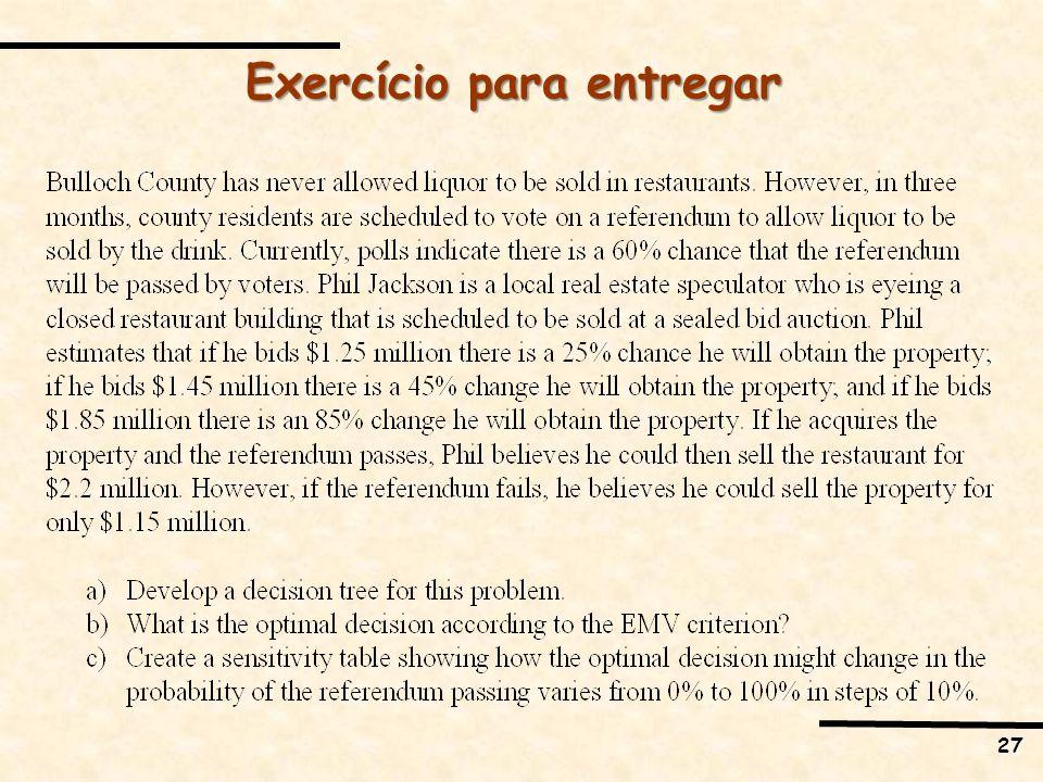 27 Exercício para entregar