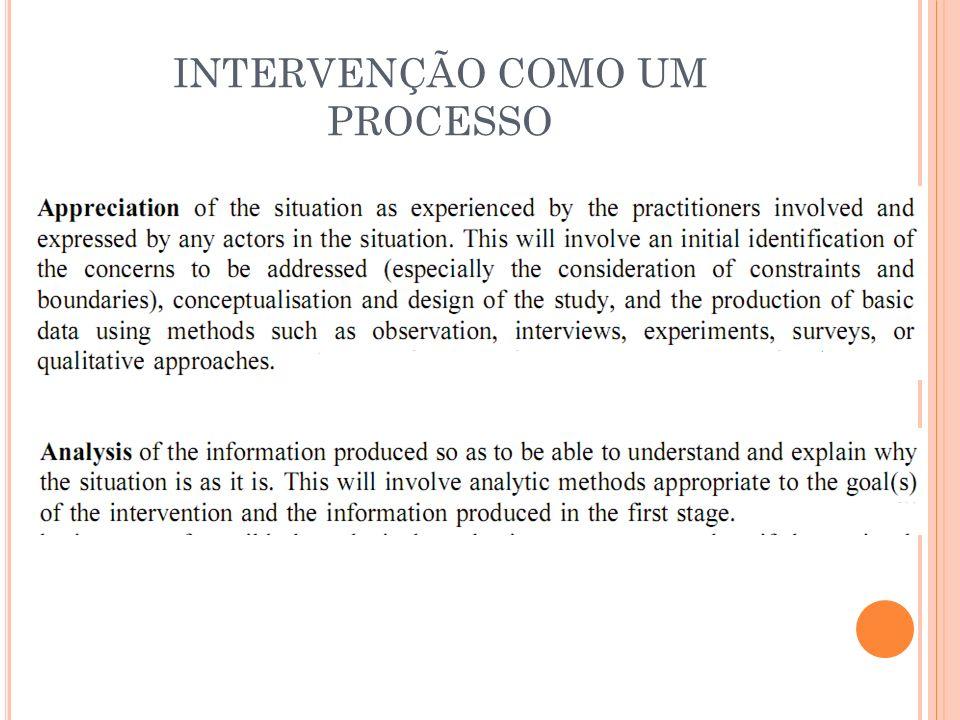 INTERVENÇÃO COMO UM PROCESSO