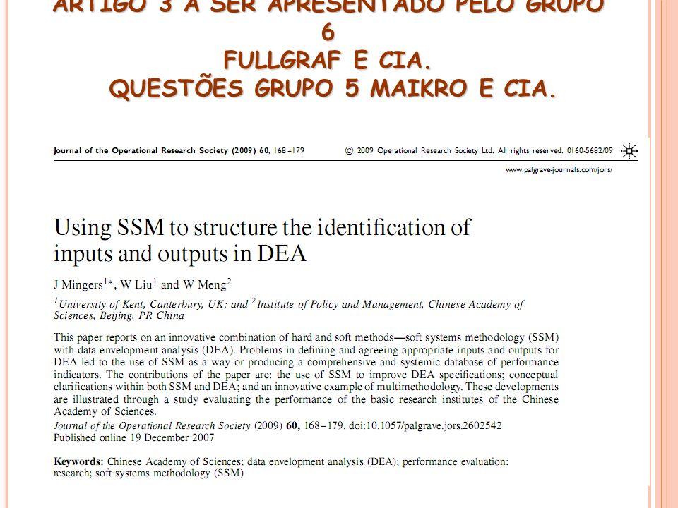ARTIGO 3 A SER APRESENTADO PELO GRUPO 6 FULLGRAF E CIA. QUESTÕES GRUPO 5 MAIKRO E CIA.