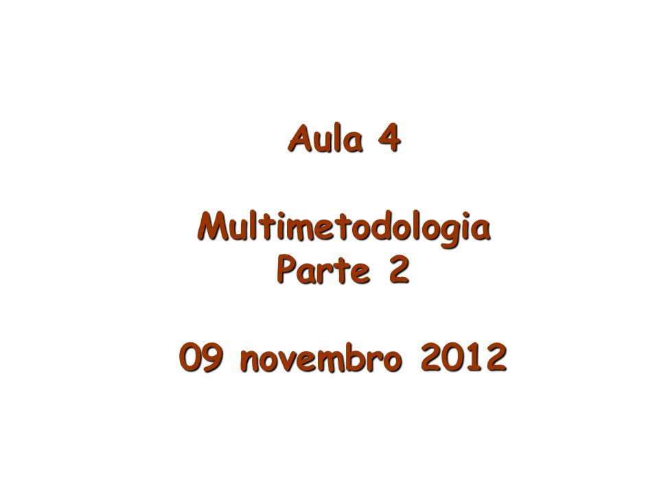 Aula 4 Multimetodologia Parte 2 09 novembro 2012