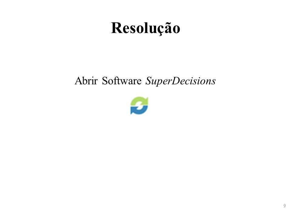 9 Resolução Abrir Software SuperDecisions