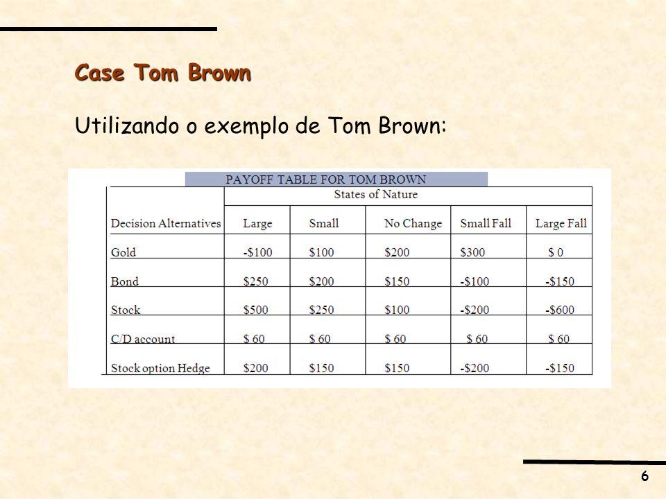 6 Case Tom Brown Utilizando o exemplo de Tom Brown: