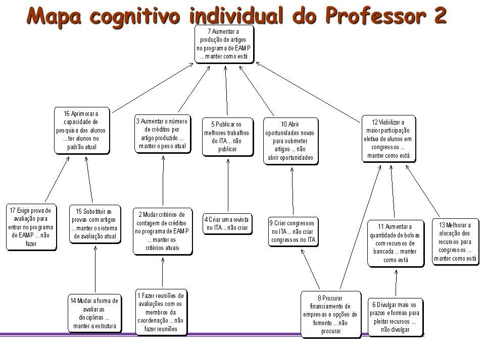 Mapa cognitivo individual do Professor 2