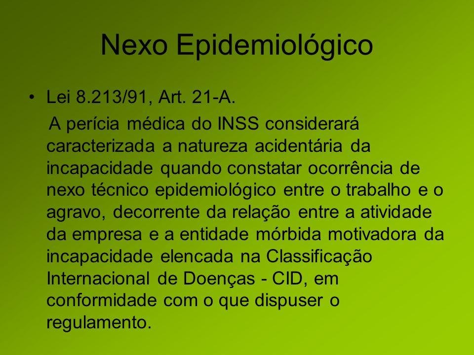Nexo Epidemiológico Lei 8.213/91, Art.21-A.