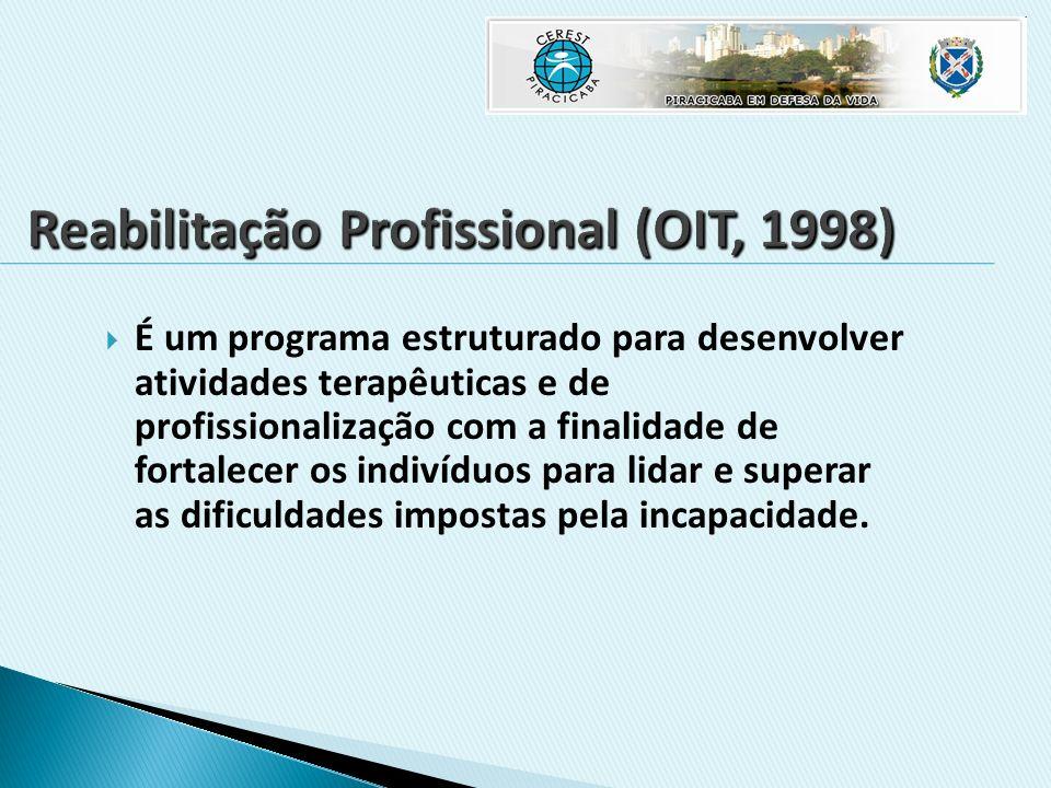 É um programa estruturado para desenvolver atividades terapêuticas e de profissionalização com a finalidade de fortalecer os indivíduos para lidar e s