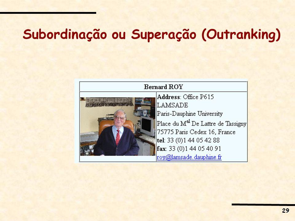 29 Subordinação ou Superação (Outranking)