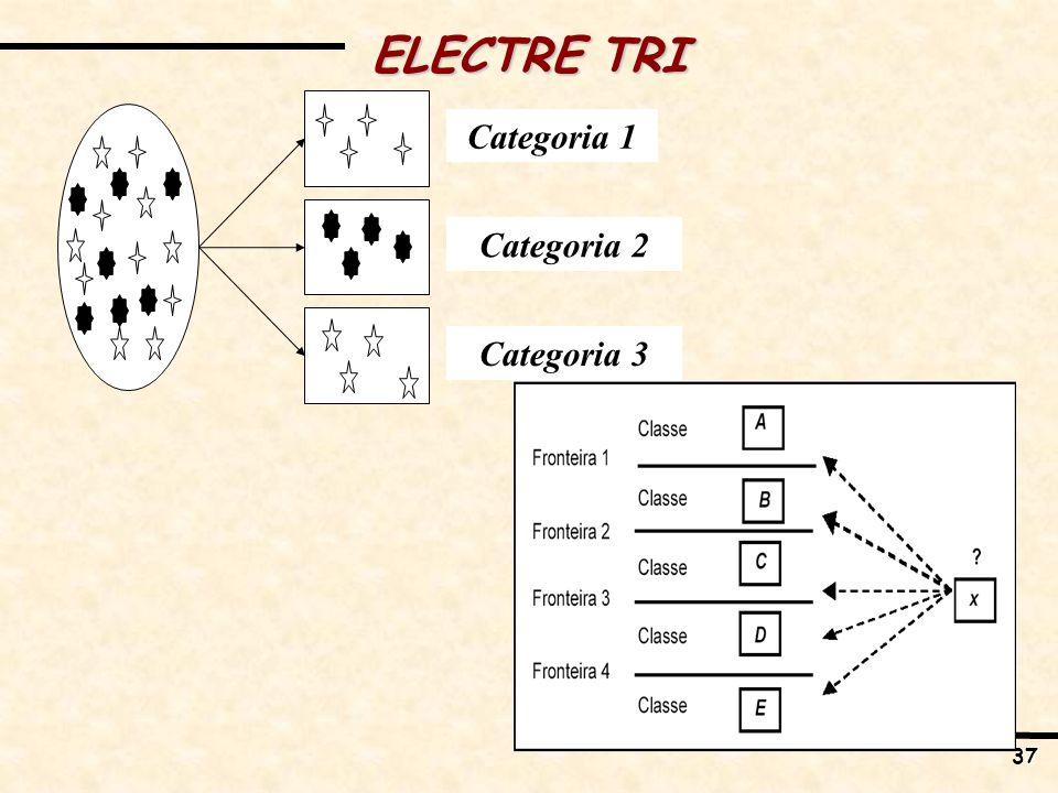 37 Categoria 2 Categoria 3 Categoria 1 ELECTRE TRI