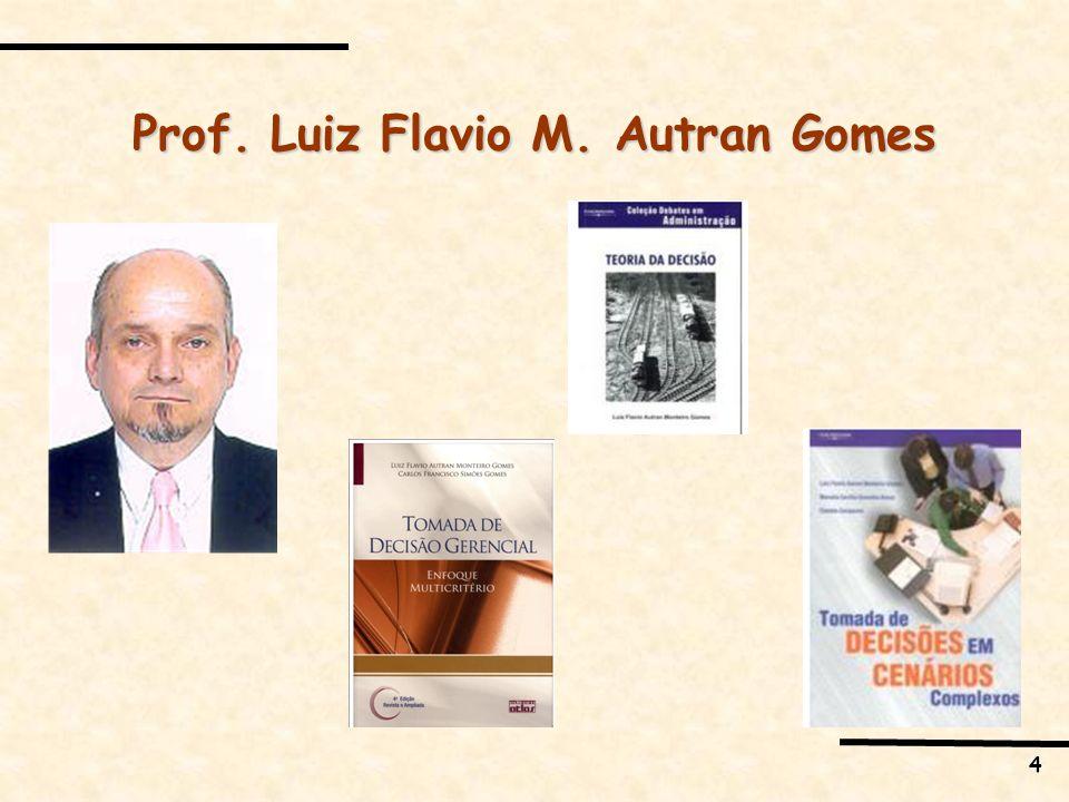 4 Prof. Luiz Flavio M. Autran Gomes
