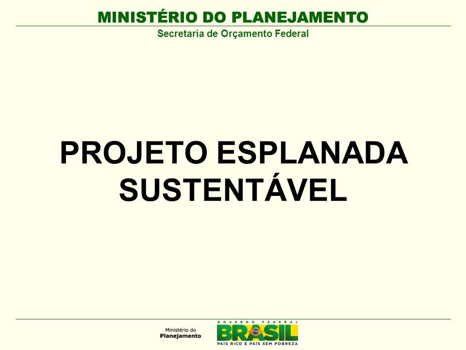MINISTÉRIO DO PLANEJAMENTO Secretaria de Orçamento Federal PROJETO ESPLANADA SUSTENTÁVEL