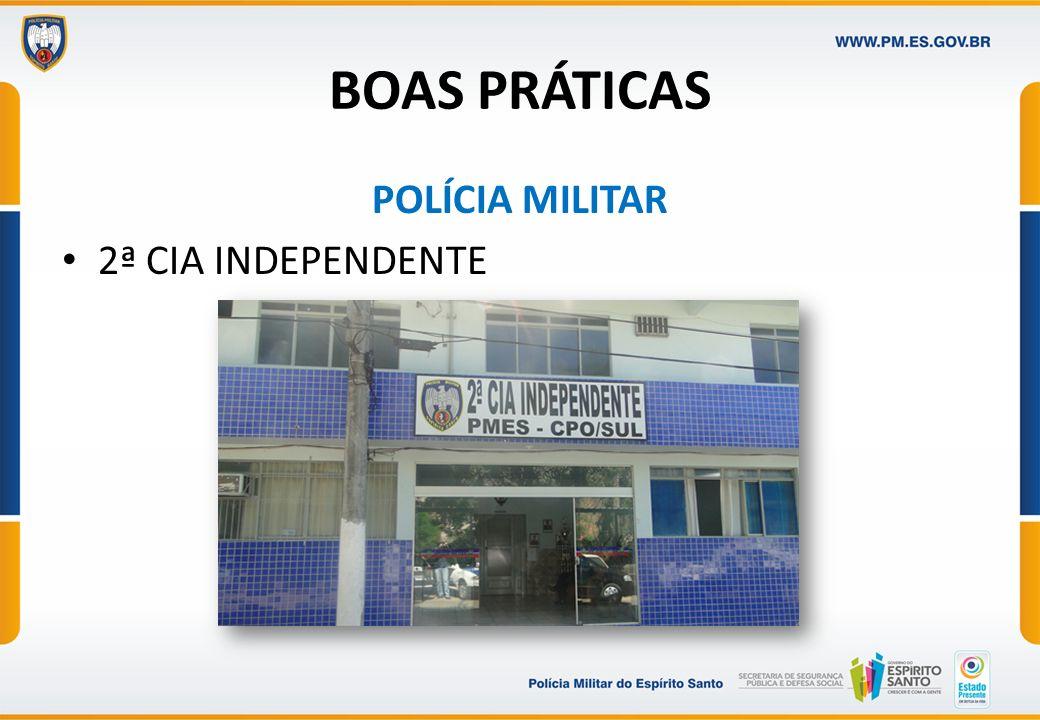 BOAS PRÁTICAS POLÍCIA MILITAR 2ª CIA INDEPENDENTE