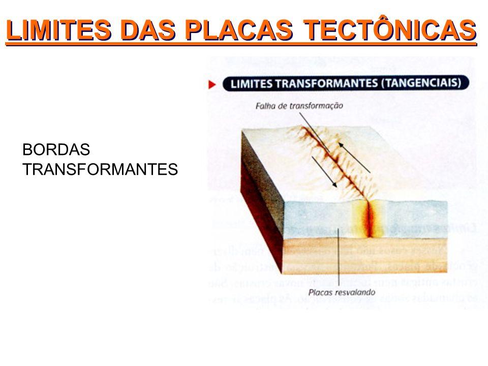 BORDAS TRANSFORMANTES LIMITES DAS PLACAS TECTÔNICAS