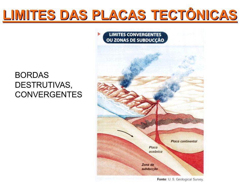 BORDAS DESTRUTIVAS, CONVERGENTES LIMITES DAS PLACAS TECTÔNICAS