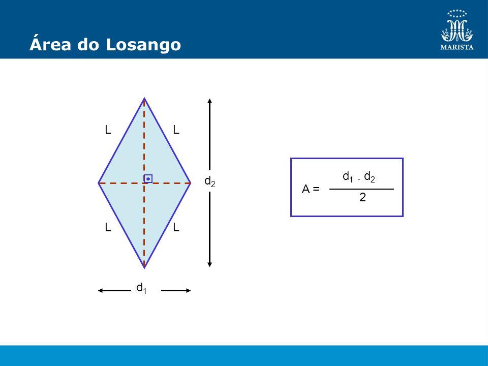 Área do Losango d 1 d 2 A = d 1. d 2 2 L L L L