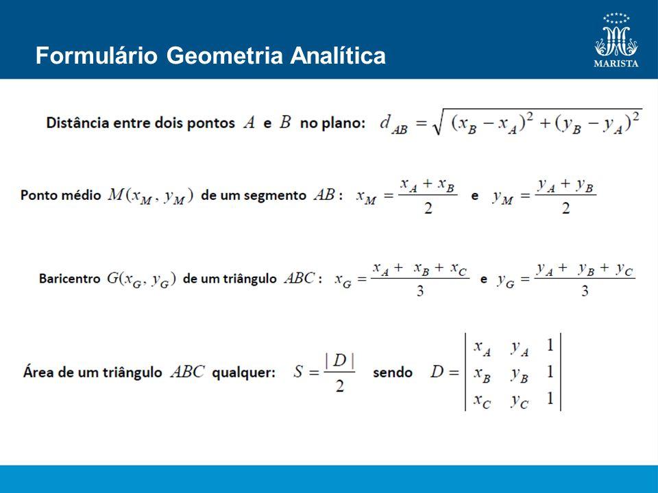 Formulário Geometria Analítica